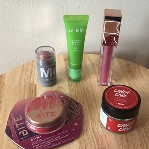 Lot of 5 lip care products (NARS, LUSH,  etc.) new